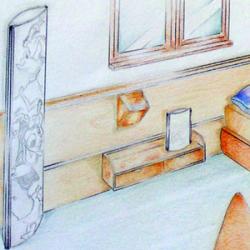 Progettazione di un arredo di camera per ragazzi