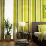 pareti-righe-verticali verdi
